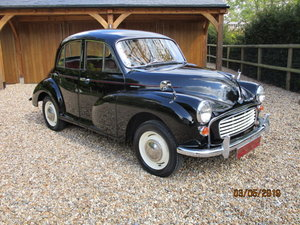 1960 Morris Minor 1000 (Rust Free Example) SOLD