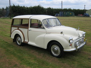 1964 MORRIS MINOR 1000 TRAVELLER. 2 OWNS 36 YEARS. DISCS. SOLD