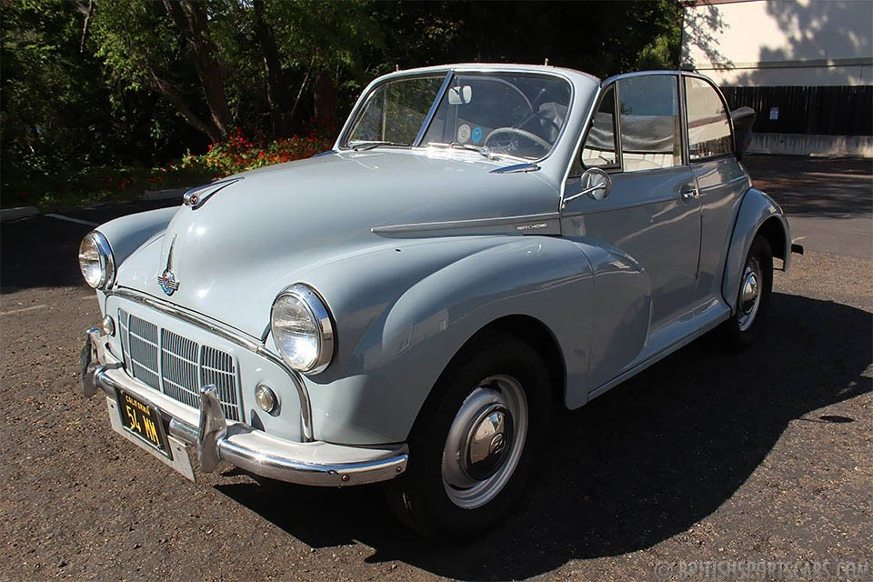 1954 Morris Minor 1000 Convertible = Clean Grey $15.9k For Sale (picture 1 of 6)