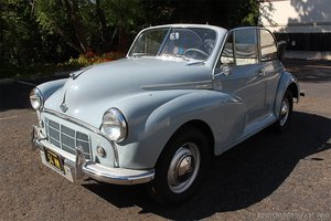 1954 Morris Minor 1000 Convertible = Clean Grey $15.9k