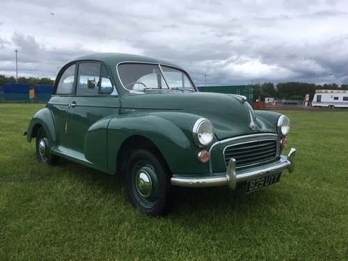 1955 Morris Minor Splitscreen at Morris Leslie Auction 25th May SOLD by Auction (picture 1 of 6)