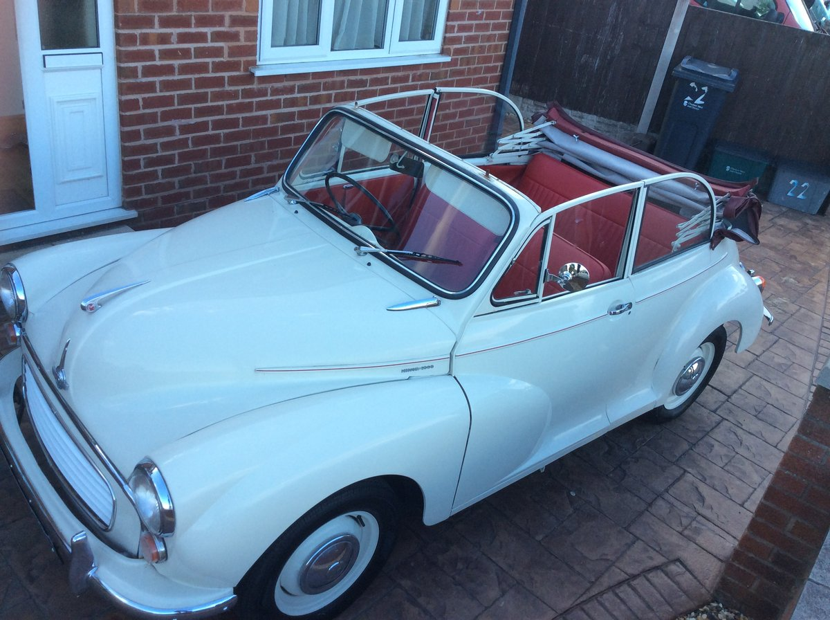 1966 Morris Minor Convertible for sale For Sale (picture 1 of 6)