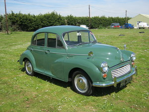 1968 MORRIS MINOR 4 DOOR SALOON. RESTORED. 1098cc. SOLD