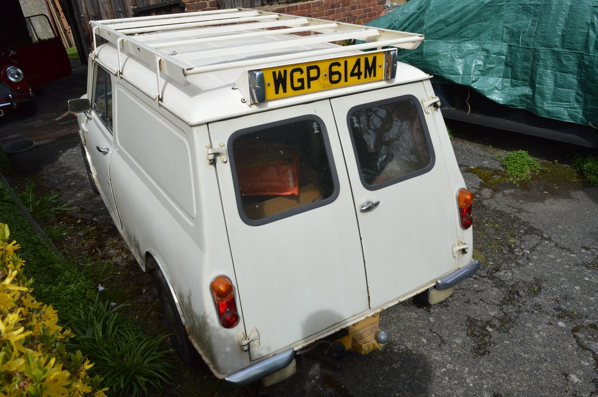 1974 Mini 1000 van for sale by Auction Friday 12th July SOLD by Auction (picture 3 of 6)