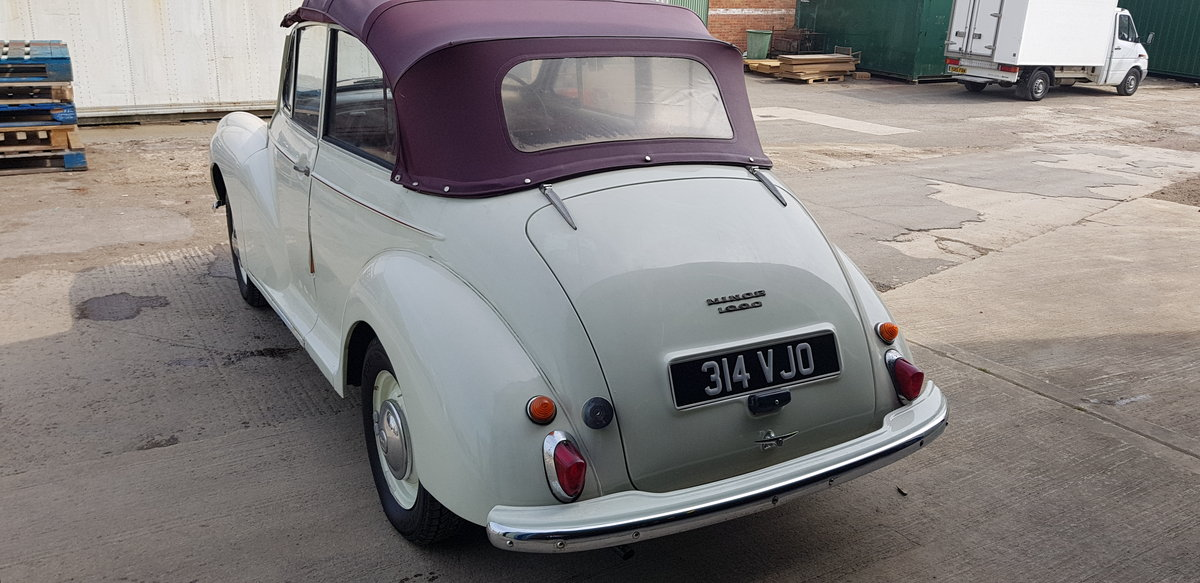 1958 ***Minor 1000 Convertible - 948cc July 20th*** For Sale by Auction (picture 3 of 6)