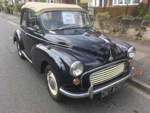 1963 Morris Minor 1000 Factory Convertible For Sale