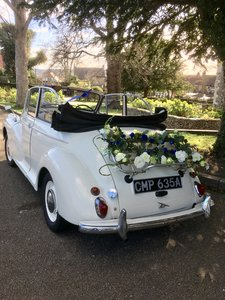 1963 Morris Minor Convertible Wedding Hire