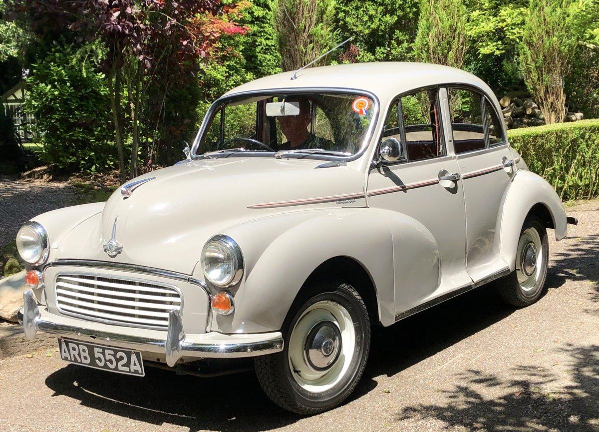1963 Morris Minor 1000 4 door For Sale (picture 1 of 6)