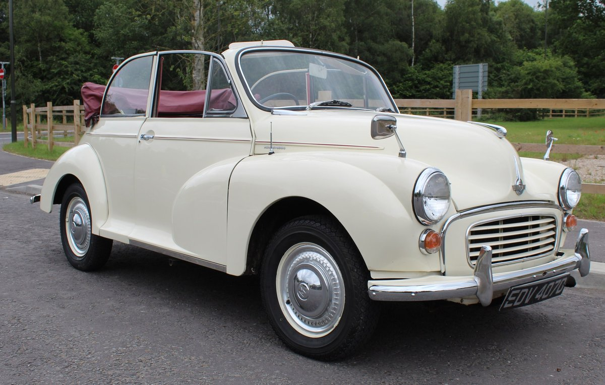 1966 Morris Minor Factory Convertible  Excellent SOLD (picture 1 of 6)
