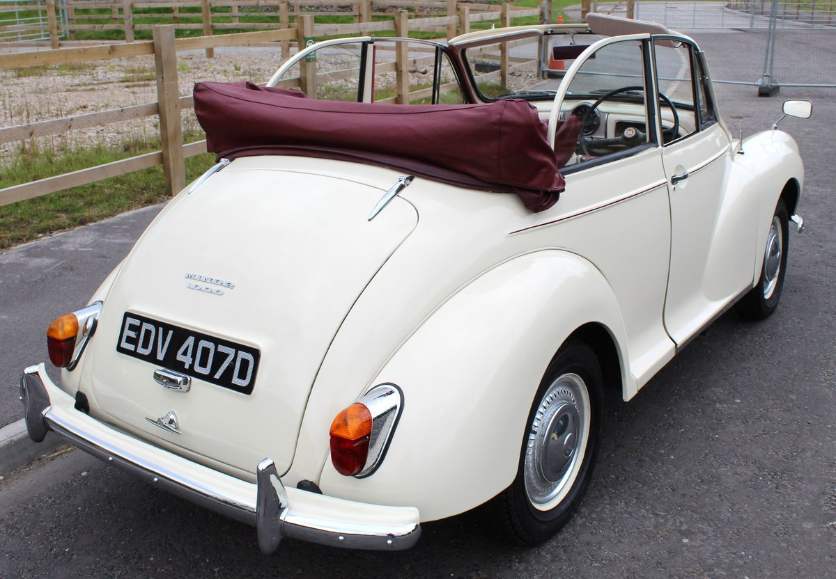 1966 Morris Minor Factory Convertible  Excellent SOLD (picture 3 of 6)