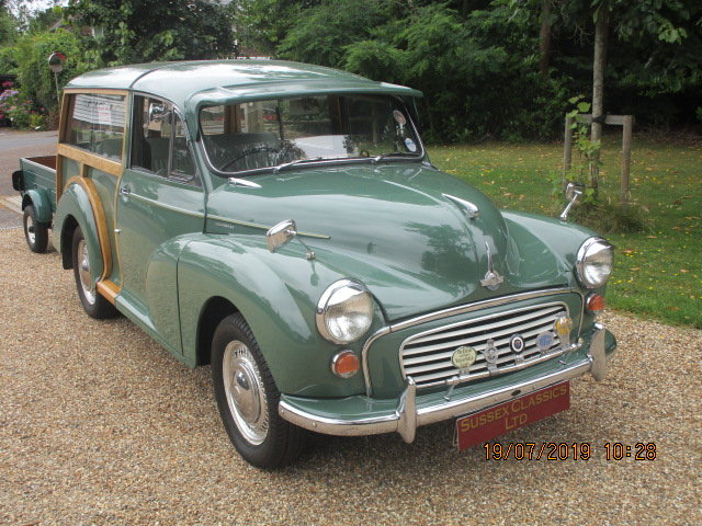 1970 Morris Minor Traveller & Box Trailer SOLD (picture 1 of 6)