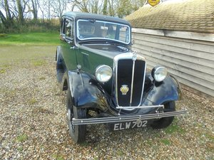 1937 Morris Eight Series 1 Two Door Saloon. SOLD