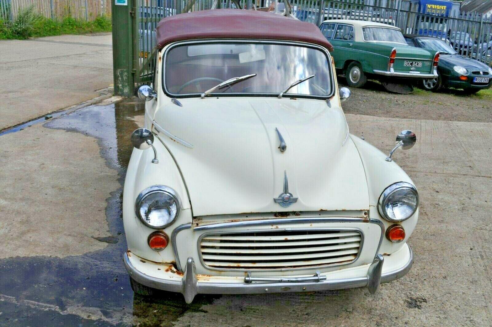 1963 MORRIS MINOR CONVERTIBLE 2 DOOR 1000 CLASSIC CAR PROJECT SOLD (picture 1 of 6)