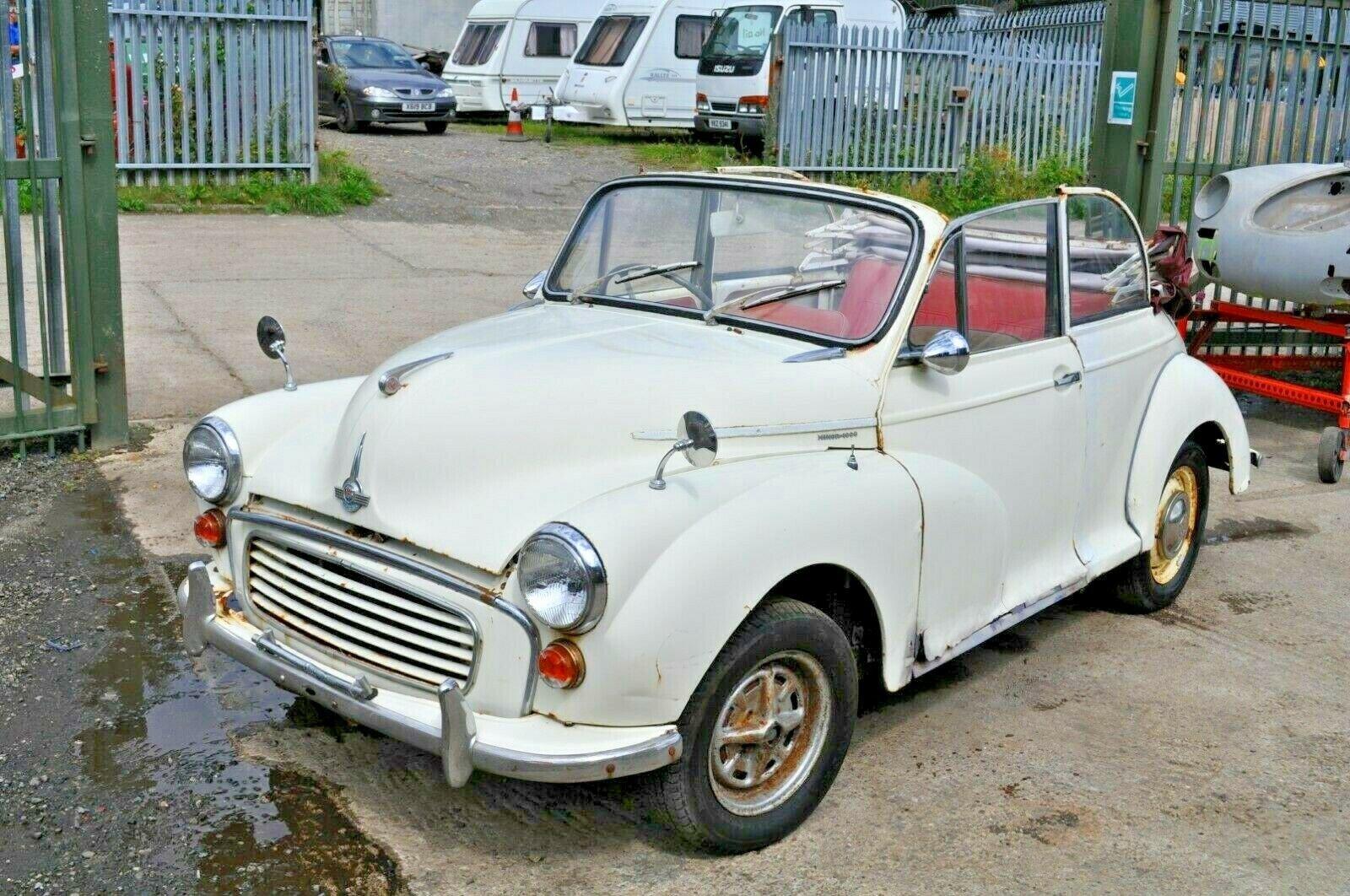 1963 MORRIS MINOR CONVERTIBLE 2 DOOR 1000 CLASSIC CAR PROJECT SOLD (picture 4 of 6)