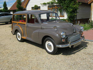 1964 MORRIS MINOR 1000 TRAVELLER. EXCELLENT CONDITION. SOLD