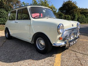 1968 Morris Mini Cooper MK2. 998cc. Snowberry white.  For Sale