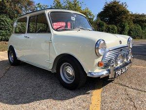 1968 Morris Mini Cooper MK2. 998cc. Snowberry white.