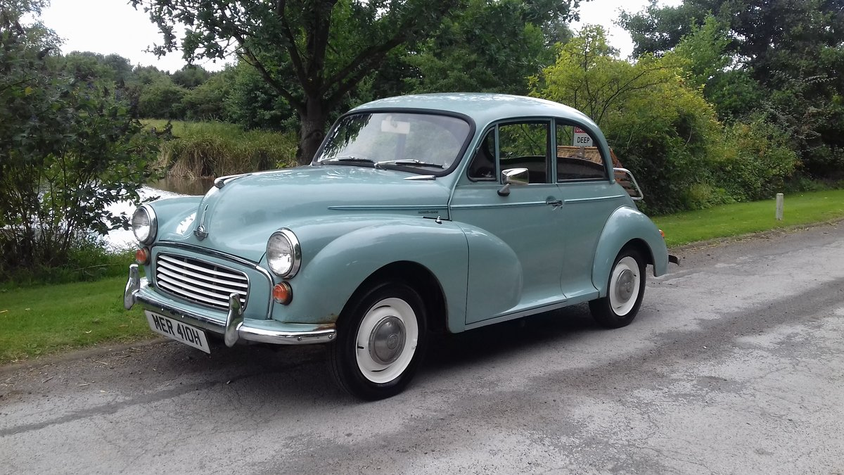 1969 MORRIS MINOR 'PHYLLIS' SALOON ~ GREY ~ 29 YRS OWNED! SOLD (picture 1 of 6)