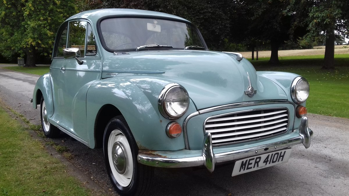 1969 MORRIS MINOR 'PHYLLIS' SALOON ~ GREY ~ 29 YRS OWNED! SOLD (picture 3 of 6)