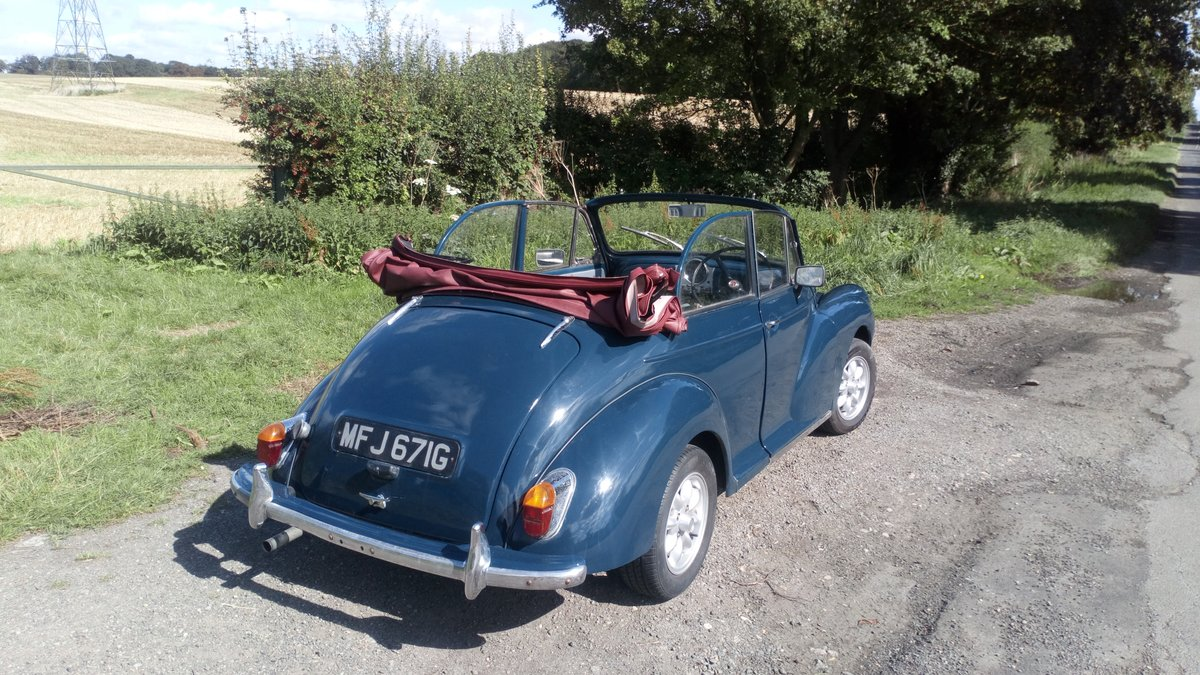 Morris Minor Convertible 1968, Interesting history SOLD (picture 5 of 6)