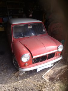1968 Morris Mini Cooper MkII for restoration