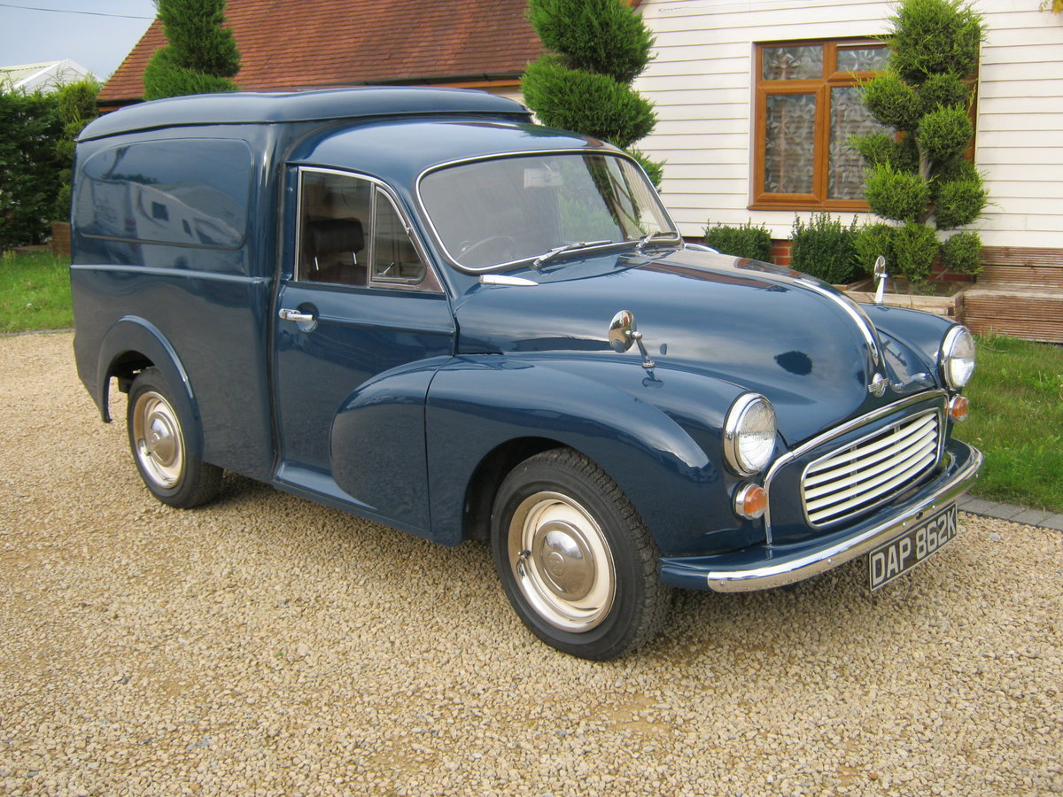 1972 MORRIS MINOR 1000 8CWT VAN. 1275cc MG ENGINE. For Sale (picture 1 of 6)