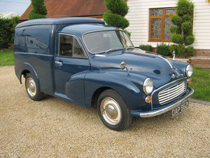 1972 MORRIS MINOR 1000 8CWT VAN. 1275cc MG ENGINE. SOLD