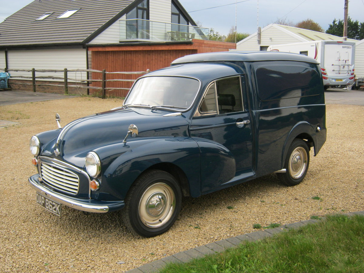 1972 MORRIS MINOR 1000 8CWT VAN. 1275cc MG ENGINE. For Sale (picture 2 of 6)