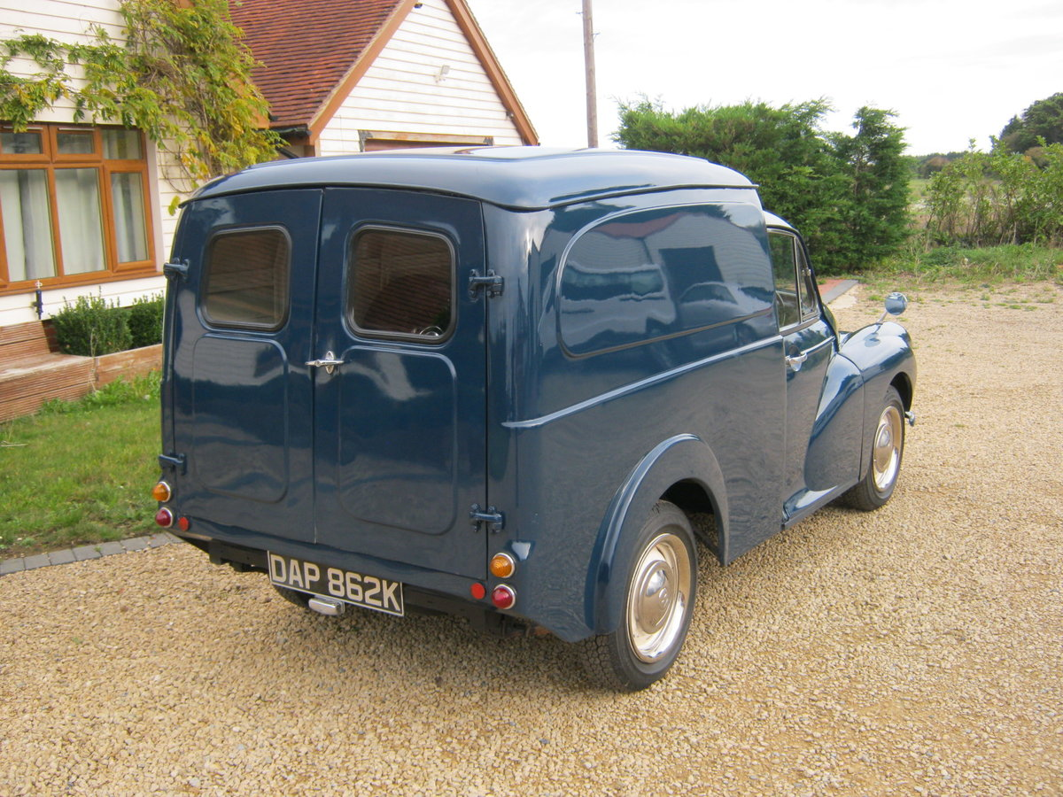 1972 MORRIS MINOR 1000 8CWT VAN. 1275cc MG ENGINE. For Sale (picture 3 of 6)