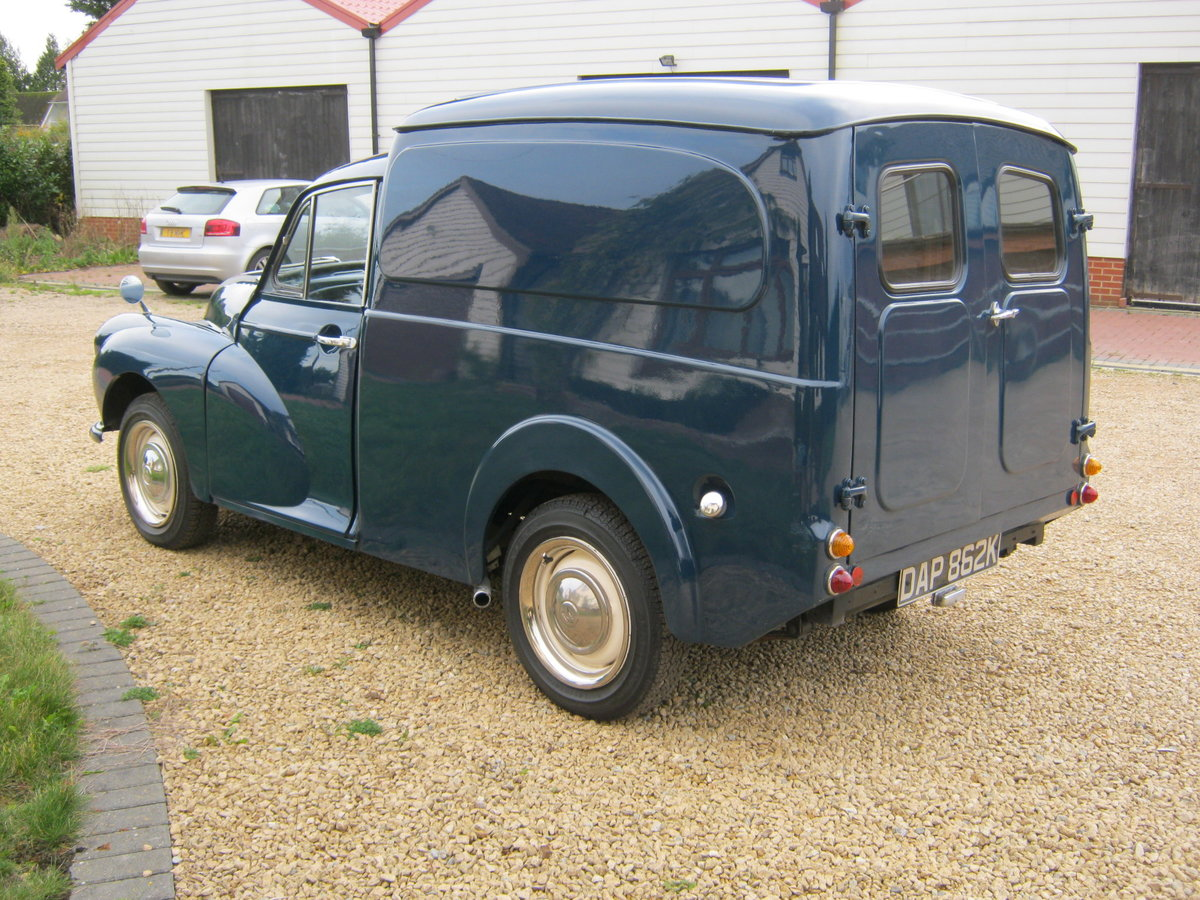 1972 MORRIS MINOR 1000 8CWT VAN. 1275cc MG ENGINE. For Sale (picture 4 of 6)