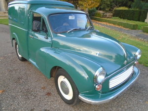 1970 Morris Minor Van, 6cwt, 1098cc For Sale