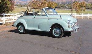 1966 Morris Minor 1000 Convertible LHD Solid Driver $14.9k