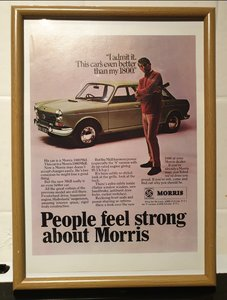 1968 Original Morris 1800 Framed Advert