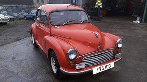 1962 MORRIS MINOR DESIRABLE 2 DOOR MODEL TAX & MOT EXEMPT For Sale