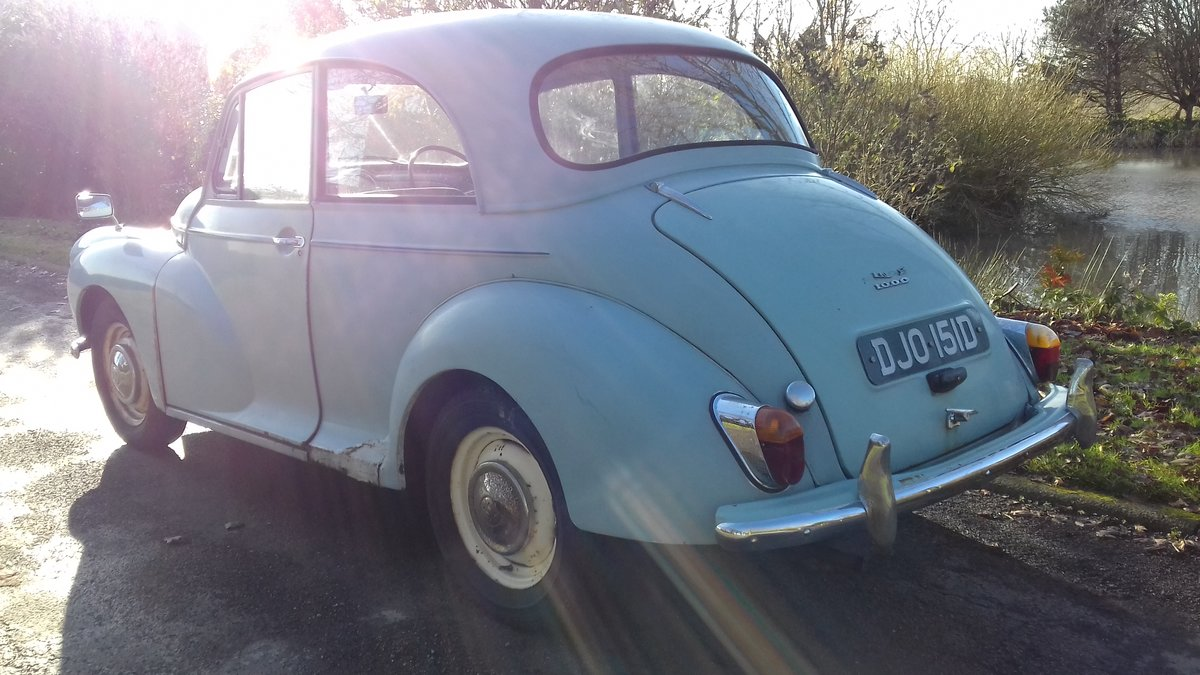 1966 MORRIS MINOR 1000  ~ SPARES OR REPAIRS ~ RUNS & DRIVES! SOLD (picture 2 of 6)