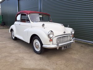 1966 Morris Minor Convertible  SOLD