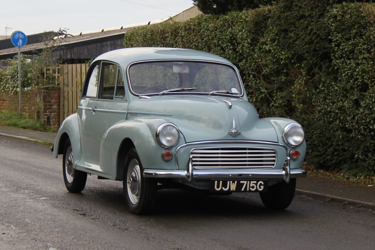 1968 Morris Minor 1000 Deluxe, 1 owner 50 Years For Sale (picture 1 of 19)