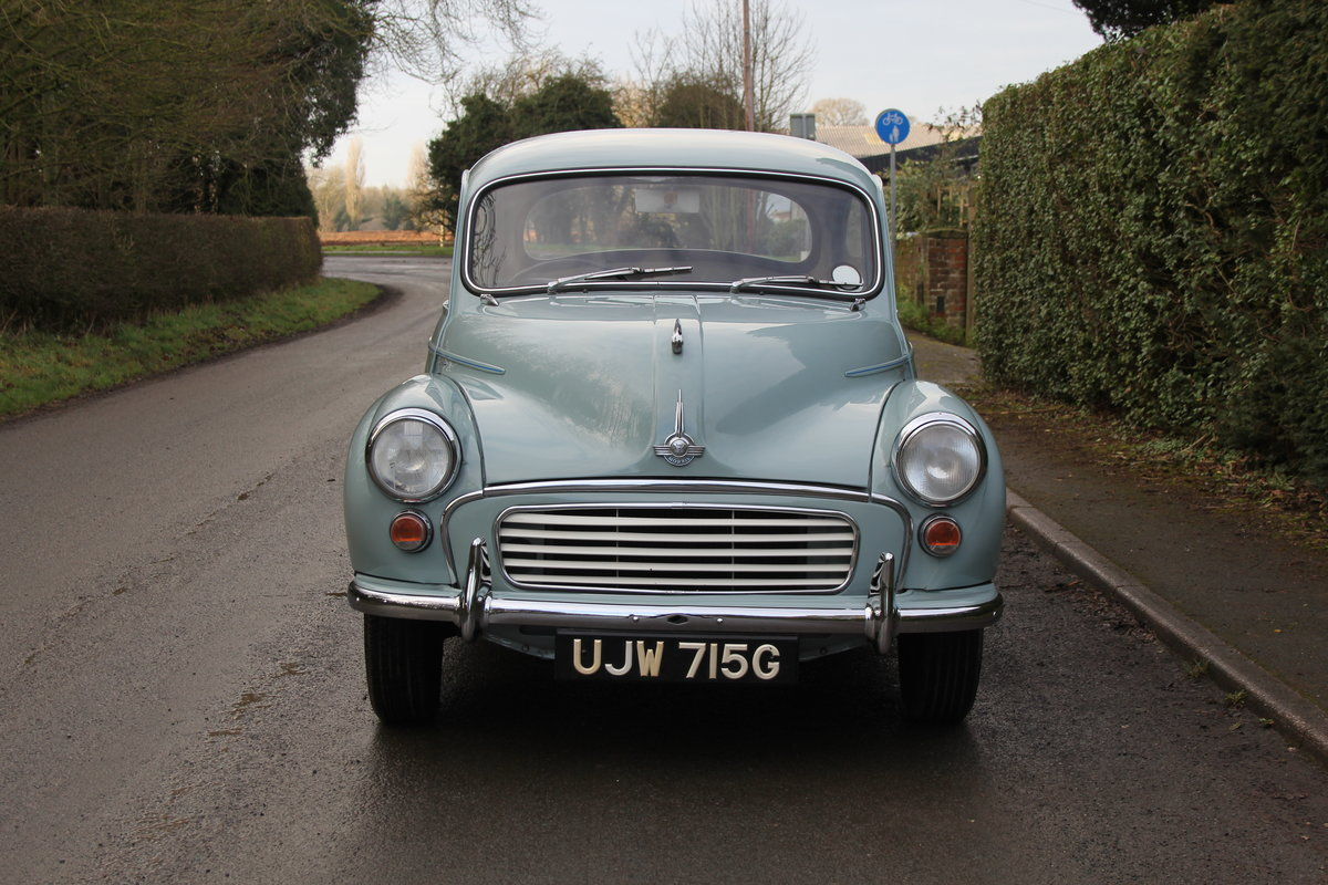 1968 Morris Minor 1000 Deluxe, 1 owner 50 Years For Sale (picture 2 of 19)