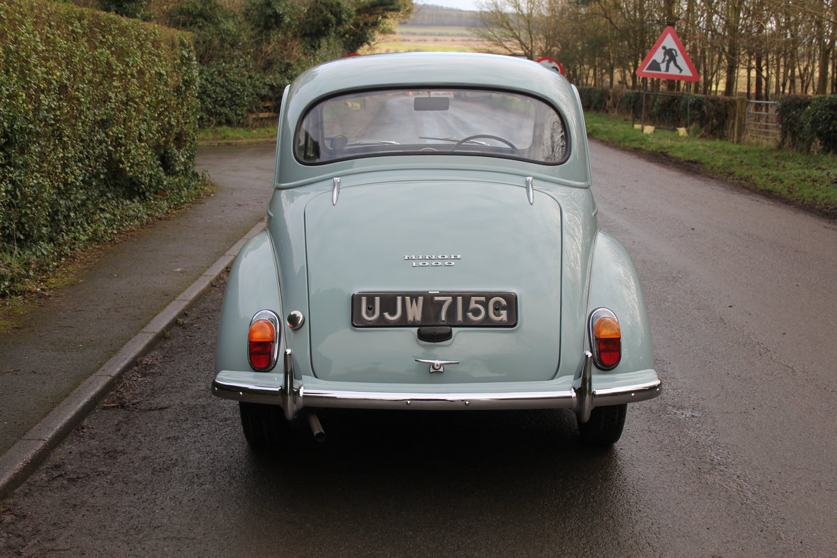 1968 Morris Minor 1000 Deluxe, 1 owner 50 Years For Sale (picture 5 of 19)