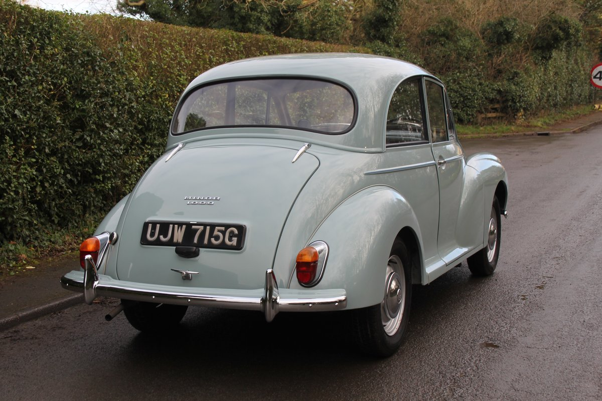 1968 Morris Minor 1000 Deluxe, 1 owner 50 Years For Sale (picture 6 of 19)