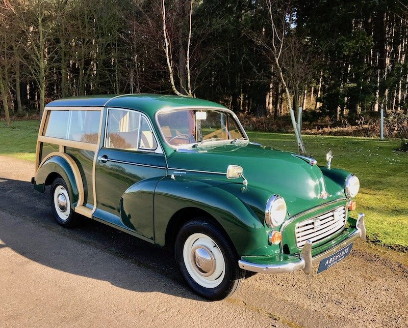 1966 Morris Minor Traveller - British Racing Green, NEW WOOD For Sale (picture 1 of 6)