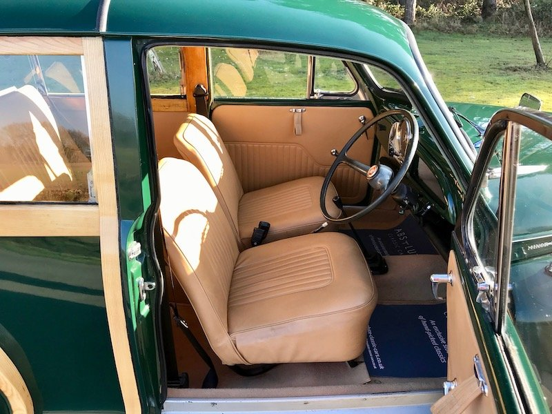 1966 Morris Minor Traveller - British Racing Green, NEW WOOD For Sale (picture 3 of 6)