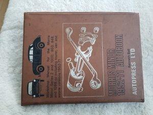 Morris minor Manual Autopress ltd For Sale