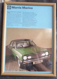 1978 Original Morris Marina Framed Advert