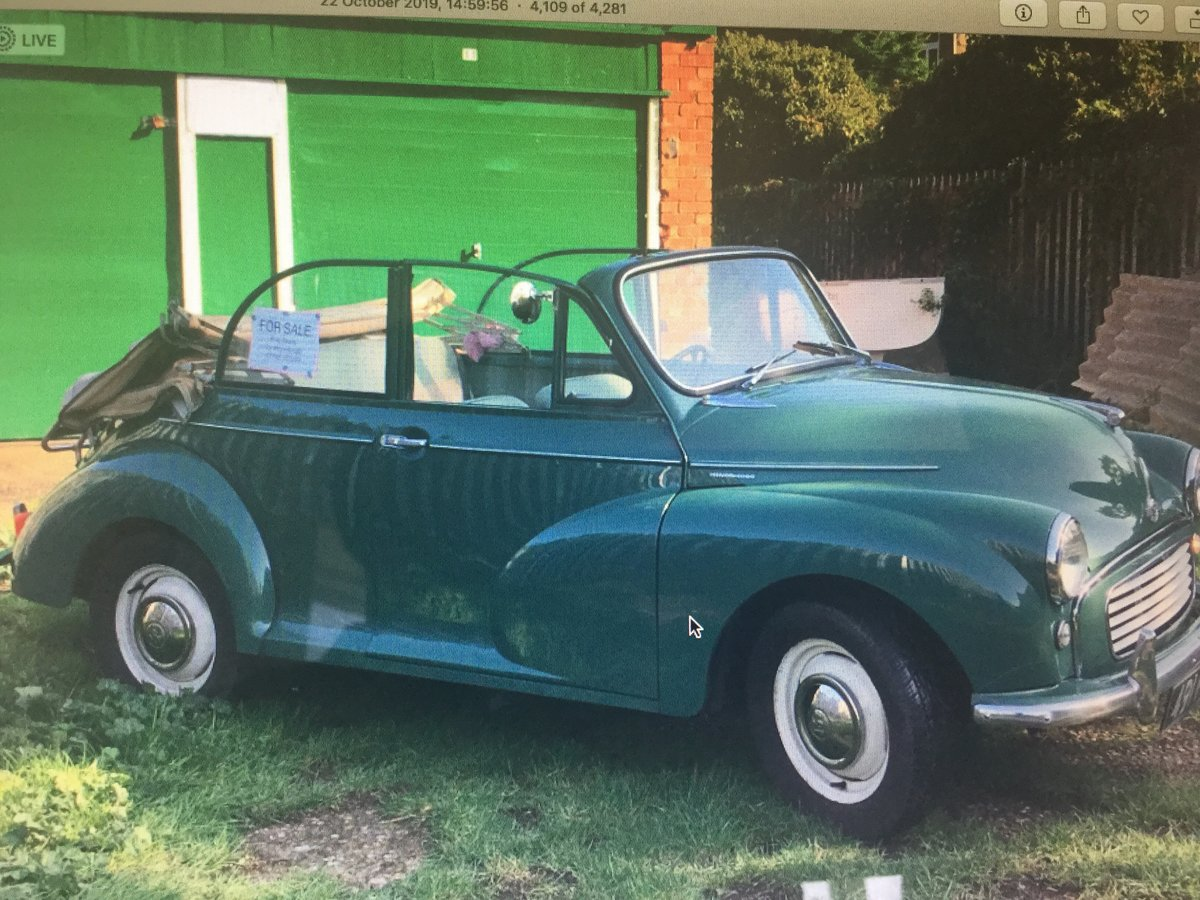 1963 Morris minor Genuine factory convertible For Sale (picture 3 of 6)