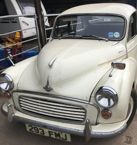 A 1962 Morris Minor two door saloon 30/5/20 SOLD by Auction