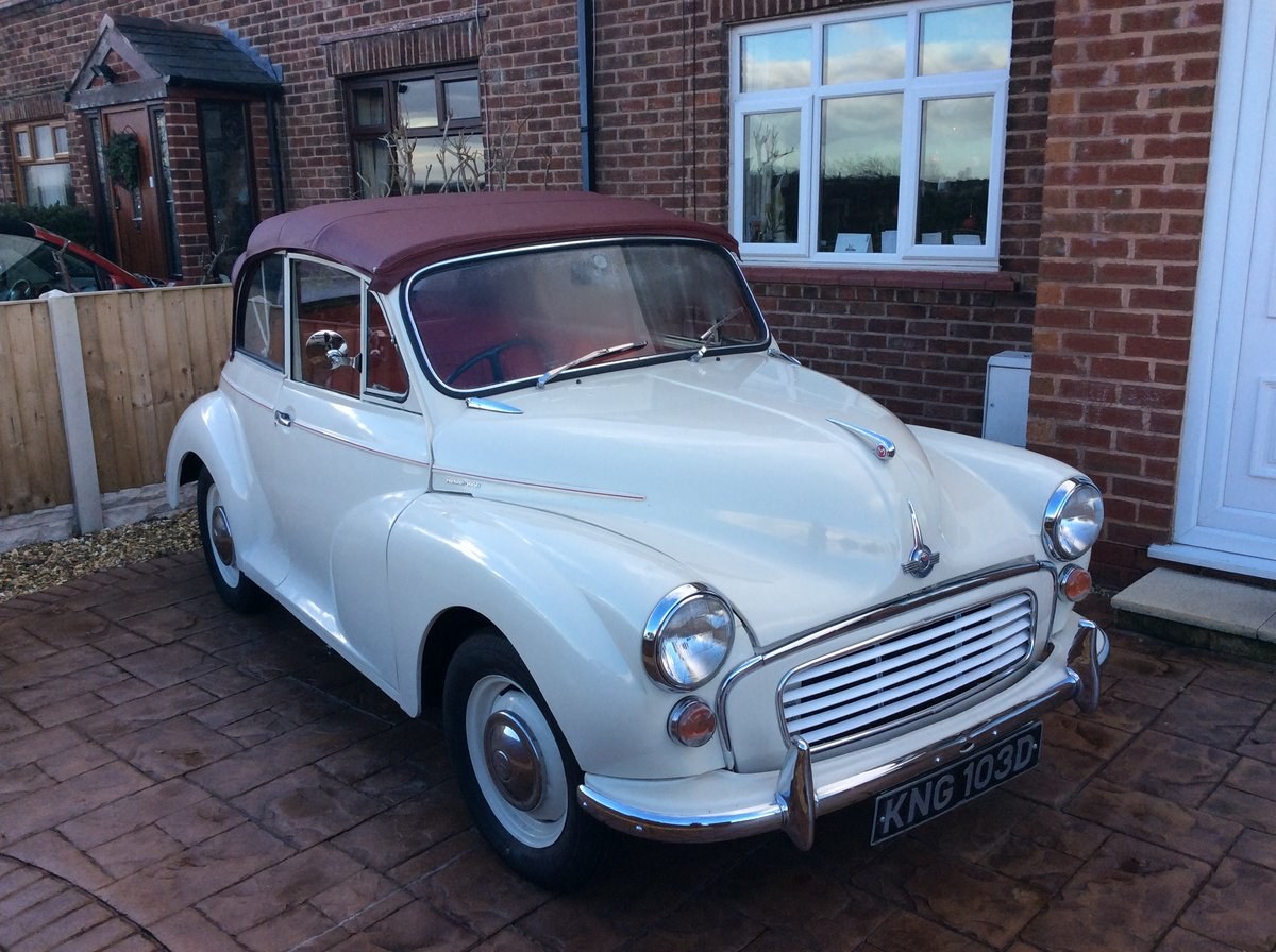 1966 Morris Minor Convertible for sale SOLD (picture 1 of 6)