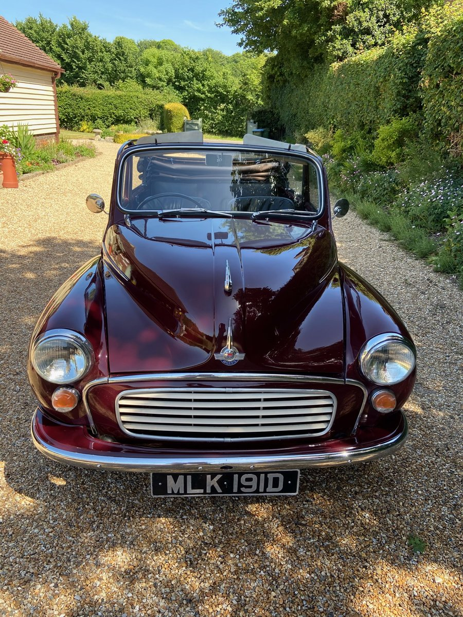 1966 Morris Minor Convertible in excellent condition SOLD (picture 6 of 6)