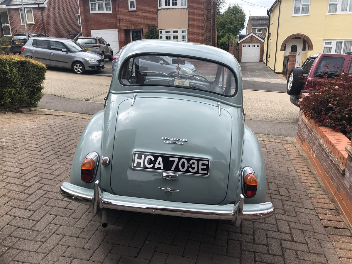 1967 Pretty smoke grey Morris Minor. For Sale (picture 2 of 6)