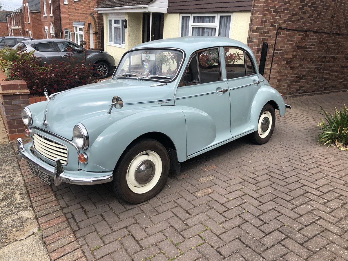 1967 Pretty smoke grey Morris Minor. For Sale (picture 6 of 6)
